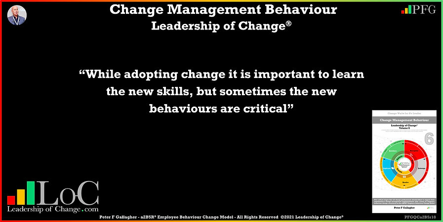 Change Management Behaviour Quotes, Change Management Quotes, Peter F Gallagher, while adopting change it is important to learn the new skills but sometimes the new behaviours are critical, Peter F Gallagher Change Management Experts Speakers Global Thought Leaders, change management behaviour book, Leadership of Change, Employee Behaviour Change, Change Management Expert Speaker thought leader,