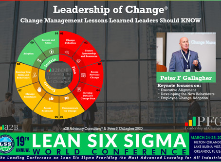 19th Annual Lean Six Sigma World Conference  Speaker Announcement - Peter F Gallagher