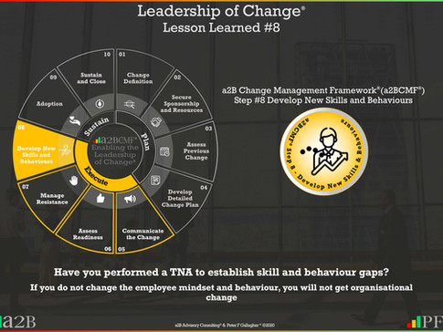 Leadership of Change® - #8 Lesson Learned