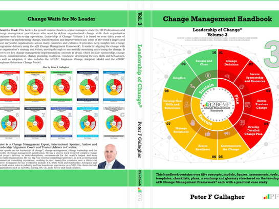 Celebrating the anniversary of the release of my 3rd Change Management book - one year ago today!