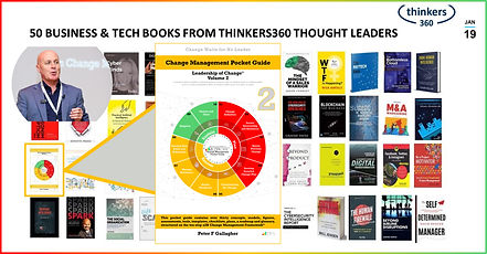 Change Management Pocket Guide, Change Management Book, Change Management Books, Change Management Pocket Guide - Leadership of Change® Volume 2, Peter F Gallagher Change Management Expert, Thinkers360 Business Books, This pocket guide contains over thirty concepts, models, figures, assessments, tools, templates, checklists, plans, a roadmap and glossary, structured on the ten-step a2B Change Management Framework®,