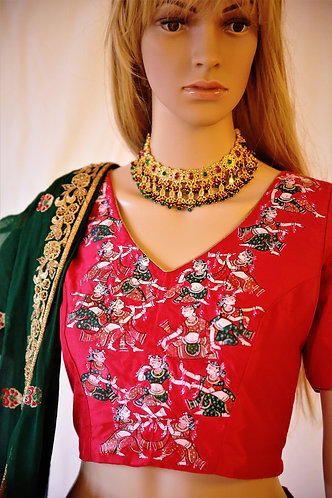 Pattacitra and embroidery  Ghagra choli
