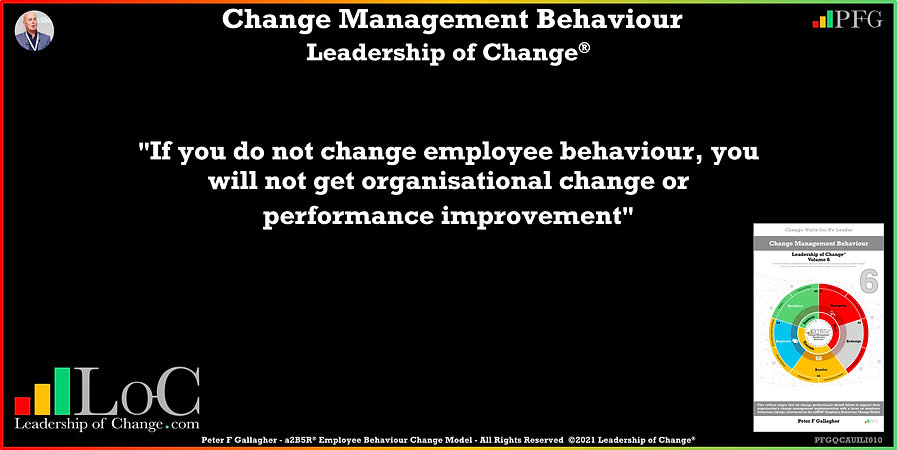 Change Management Behaviour Quotes, Change Management Quotes, Peter F Gallagher, If you do not change employee behaviour, Peter F Gallagher Change Management Experts, Peter F Gallagher Change Management Speakers, Peter F Gallagher Change Management Global Thought Leaders, change management behaviour book, Leadership of Change, Employee Behaviour Change,