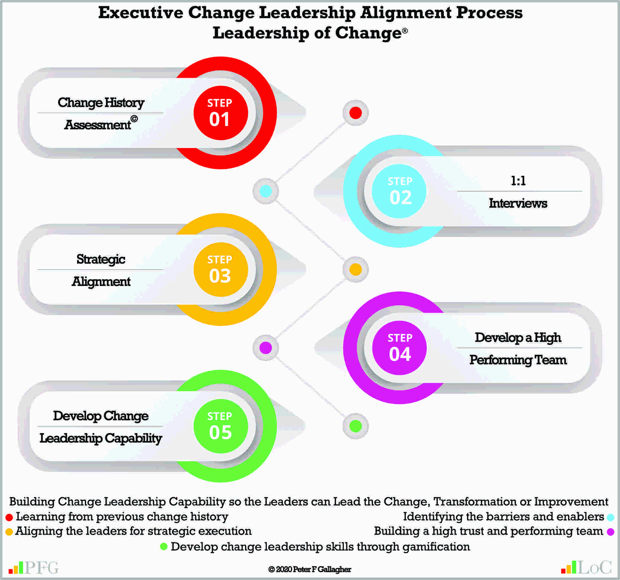 Change Leadership Alignment, Peter F Gallagher Change Management Expert, leadership of change