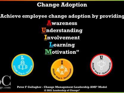 AUILM® Employee Change Adoption Model - Five Key Steps