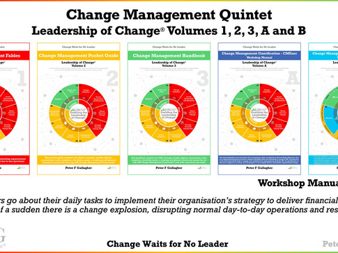 Change Management Book Quintet: Leadership of Change® Volumes 1, 2, 3, A and B