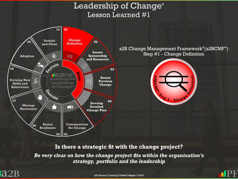 Leadership of Change - #1 Lesson Learned