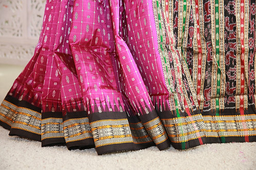 Plum and black Hazaar Butaas Traditional Sonepuri multicolor Anchal