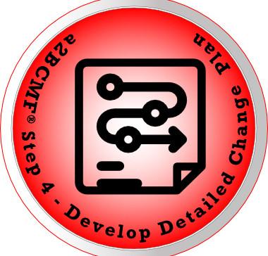 a2B Change Management Framework® (a2BCMF®) - Step #4 Icon: Develop Detailed Change Plan