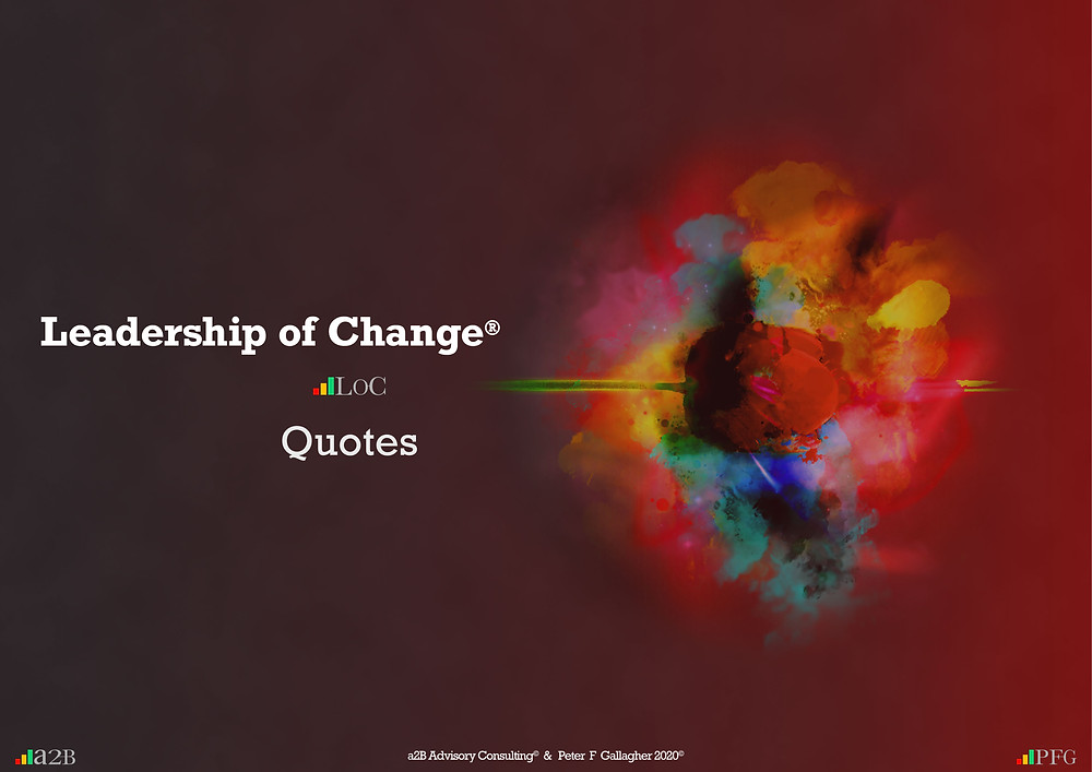 Change Management Quotes Peter F Gallagher