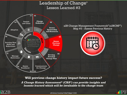 Leadership of Change® - #3 Lesson Learned