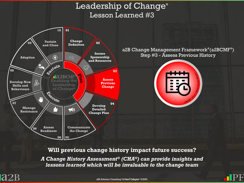 Leadership of Change - #3 Lesson Learned