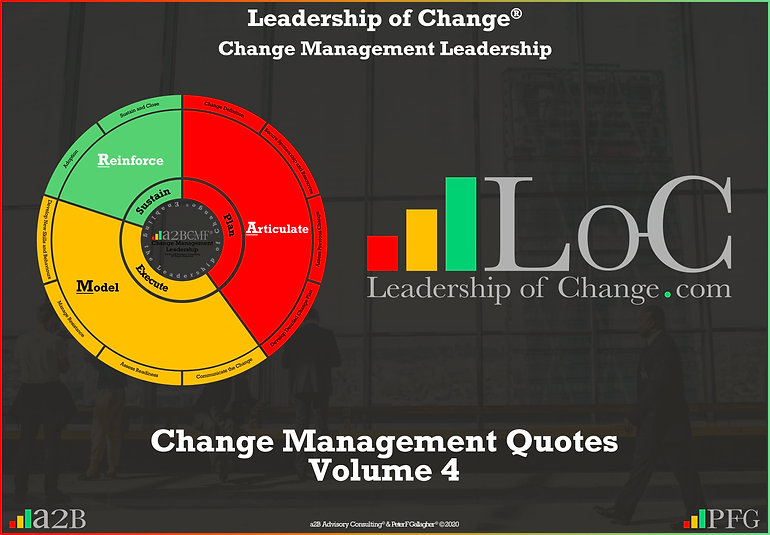 """Change Management Leadership Quotes, Change Management Quotes Volume 4 Peter F Gallagher, """"Organisational change leadership is about effectively and proactively articulating the vision, modelling the new way and intervening to ensure sustainable change"""" ~ Peter F Gallagher Change, Peter F Gallagher Change Management Expert Speaker and Global Thought Leader,"""