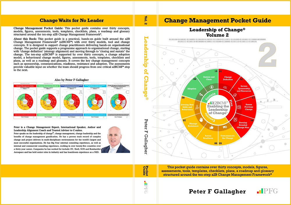 Peter F Gallagher Change Management Expert, Leadership of Change Volume 1 Fables, www.PeterFgallagher.com, Peter F Gallagher, PFG, #PFG, PFG Publications, The Leadership of Change, The Leadership of Change – Volume 1, Change Management Leadership Fables, Peter F Gallagher Speaker, #LeadershipOfChange, Leadership Fables Implementing organisational change management vs. delivering normal day to day operations, Global Speaker, Peter F Gallagher, Enabling step improvement, Sarah L Gallagher, Change Management, Change Management Framework, Change Management Model, a2BCMF, AUILM, a2B5R, a2BBIS, [Author: Peter F Gallagher]