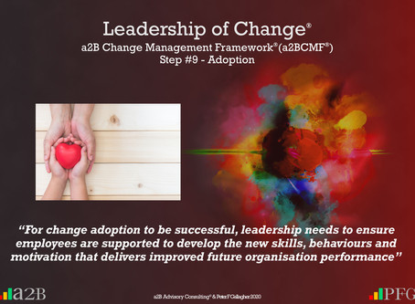 a2B Change Management Framework® (a2BCMF®) Step #9