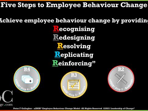a2B5R® Employee Behaviour Change Model - Five Key Steps