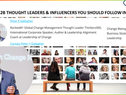 100 B2B Thought Leaders and Influencers You Should Follow in 2021 - Peter F Gallagher