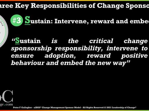 Change Management Sponsorship - Responsibility Three: Sustain