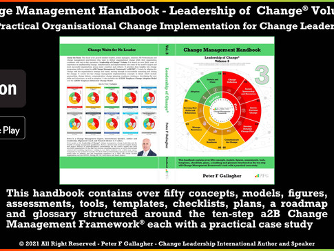 Change Management Handbook - Contains Over Fifty Concepts, Models, Figures, Assessments, Tools, etc.