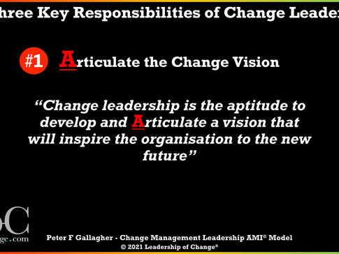 Change Management Leadership - Responsibility One: Articulate