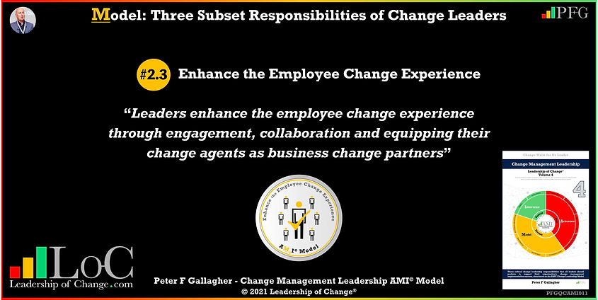 Change Management Leadership Quotes, Change Management Quotes Peter F Gallagher, Enhance the Employee Change Experience, Leaders enhance the employee change experience through engagement, collaboration and equipping their change agents as business change partners, change management experts speakers authors global thought leaders, leadership of change, change management quotes, change leadership,