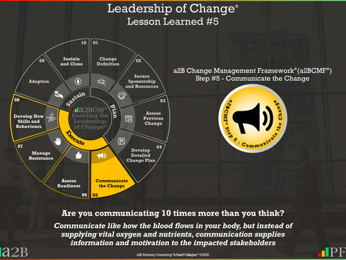 Leadership of Change - #5 Lesson Learned