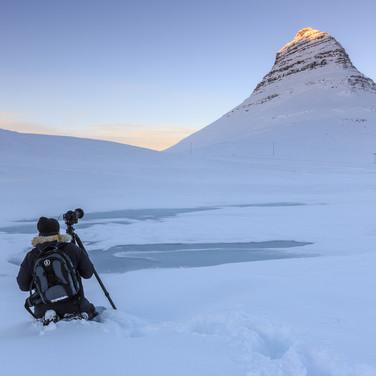 Waiting for sunset, Iceland.