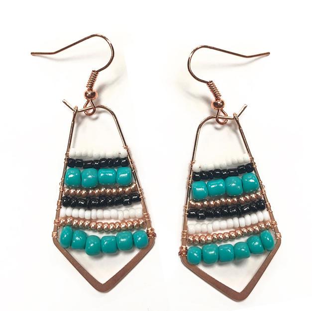 Open Bezel Earrings