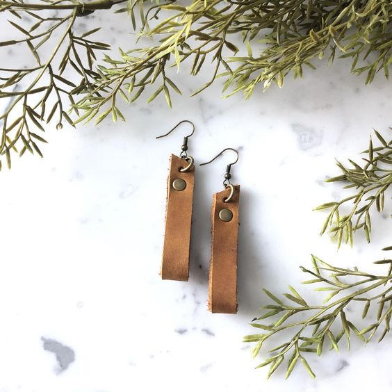 Looped Leather Earrings