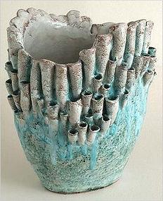 Ceramic coral inspired vase