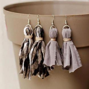 Scrap Fabric Earrings