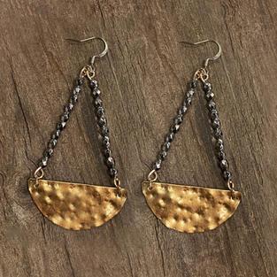 Textured Metal Earrings