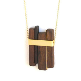 Stained Wood Necklace