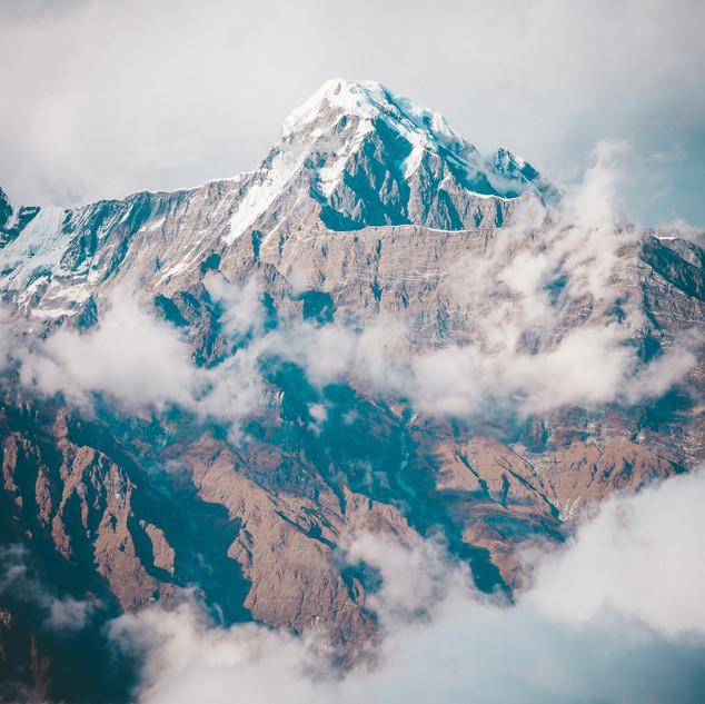Close-up of Mardi Himal Peak, Nepal