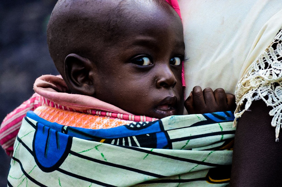 Portrait of a baby in Ngara, Tanzania