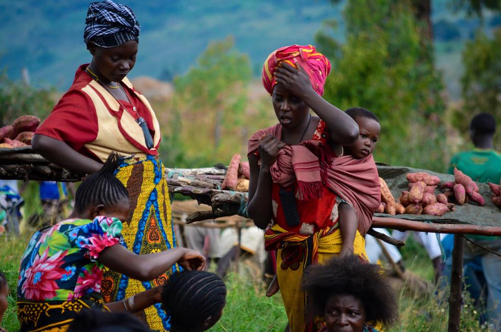 Market women at Sunday market in Ngara, Tanzania