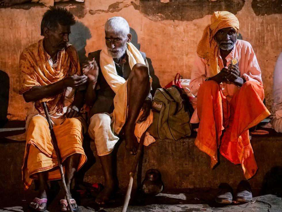 Sadhus at Ram Raja Celebration in Orchha, India
