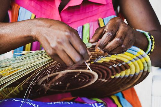 Close up of Josee weaving at Talking Thr
