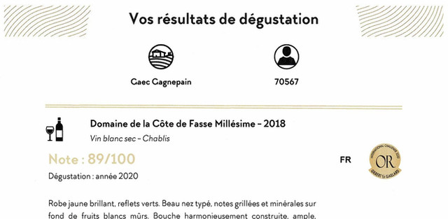 Domaine de la Côte de Fasse - Gilbert &