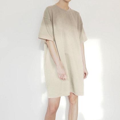 OVERSIZE T-SHIRT DRESS - BEIGE