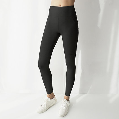 MONOCHROMATIC LEGGINGS - BLACK