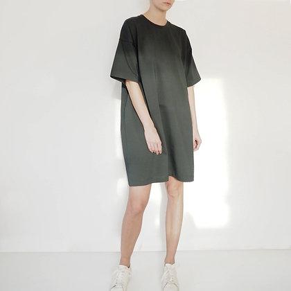 OVERSIZE T-SHIRT DRESS - DARK GREEN