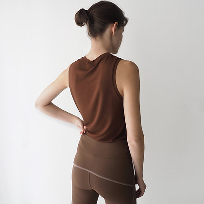 MUSCLE TOP  - MAROON BAMBOO