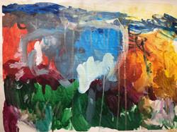 Golden Rain 400x500 Canvas