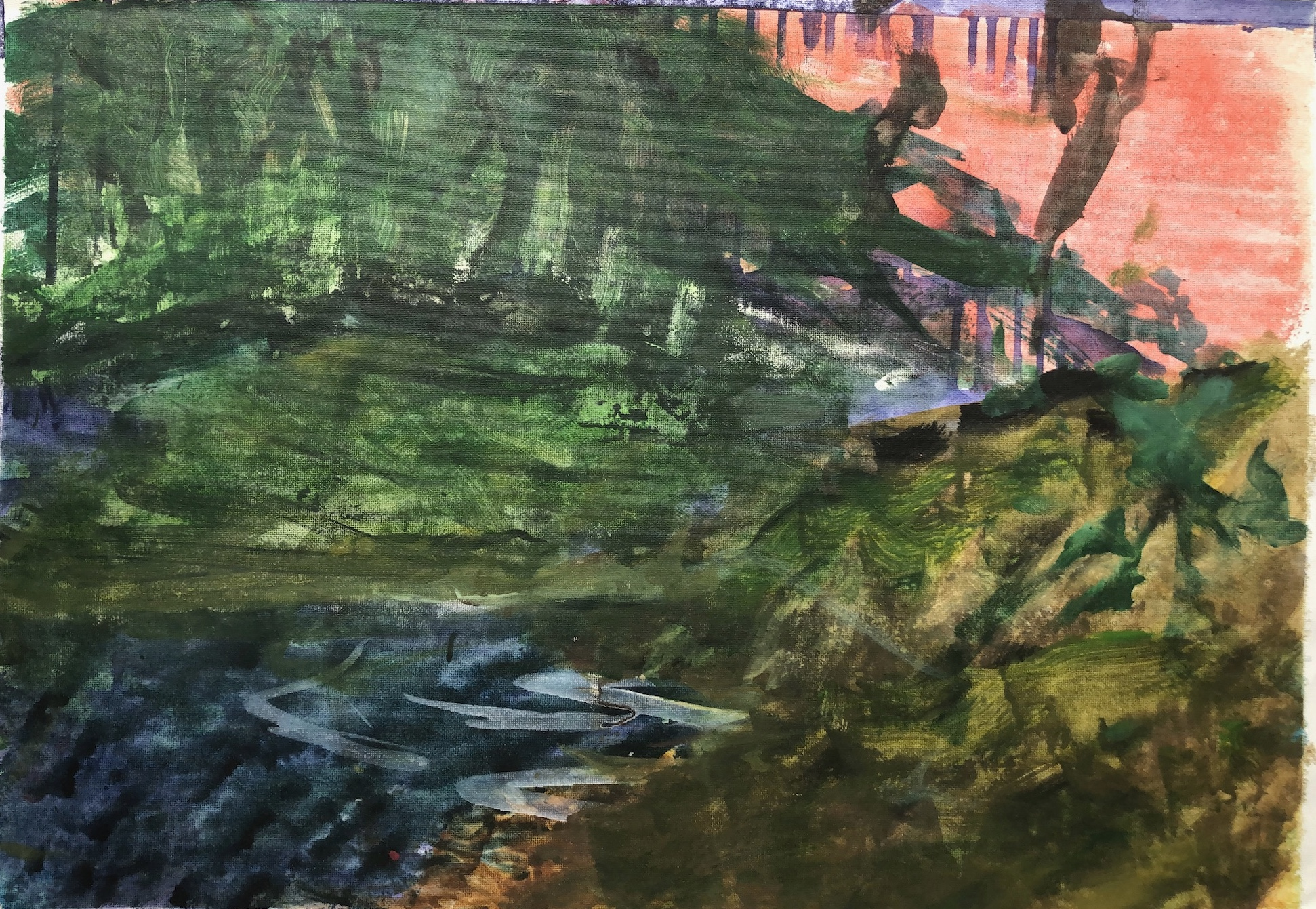Lake in the Forest 2017 400x600 Canvas