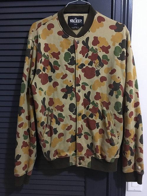 10 Deep Camo Bomber Sweatshirt Large