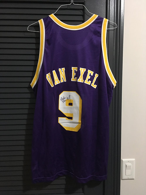 Signed Nick Van Exel Lakers Jersey 48