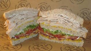 Turkey Club Sandwich.