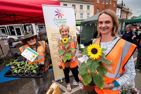 Market Hill, Sudbury.Sudbury is hosting its first ever Green Sunday event, to promote sust