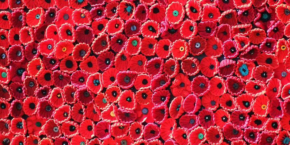 Remembrance Sunday | Community Crochet Poppies & The Silent Soldier Audio Visual Display
